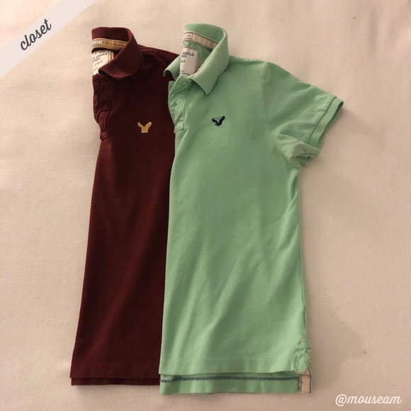 553ee2846 American Eagle Outfitters Other -  AEO  Men s Vintage Fit Polo Shirt  (Maroon